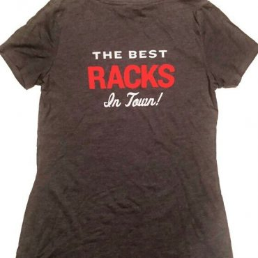 the best racks in town t-shirt bbq shirt black shirt with red and white lettering